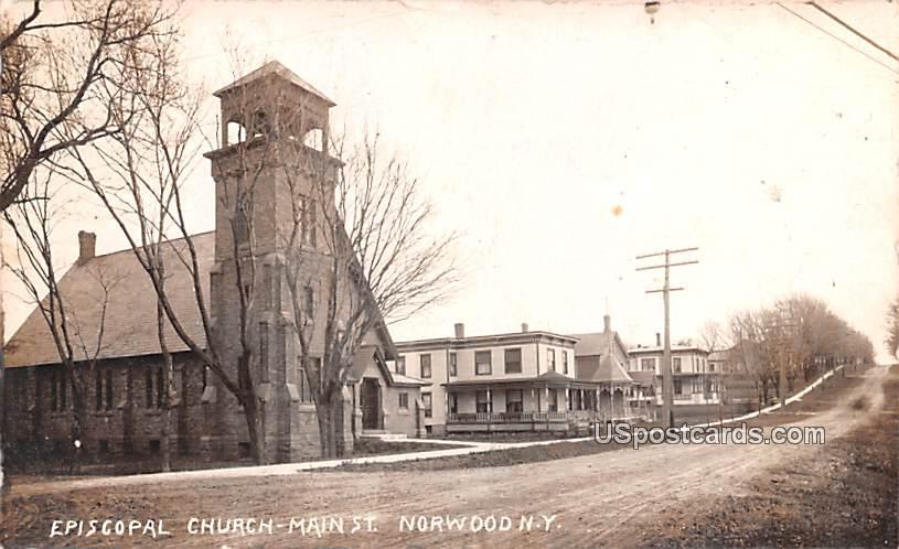 Episcopal Church - Norwood, New York NY Postcard