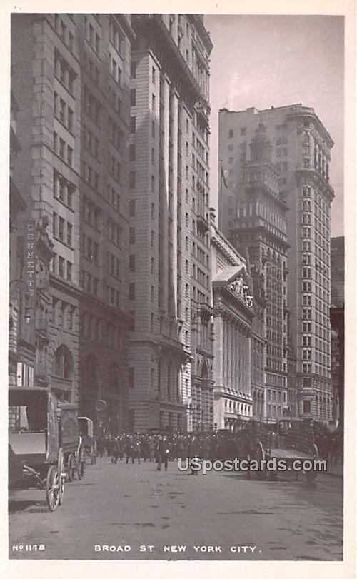 Broad Street - New York City Postcards, New York NY Postcard