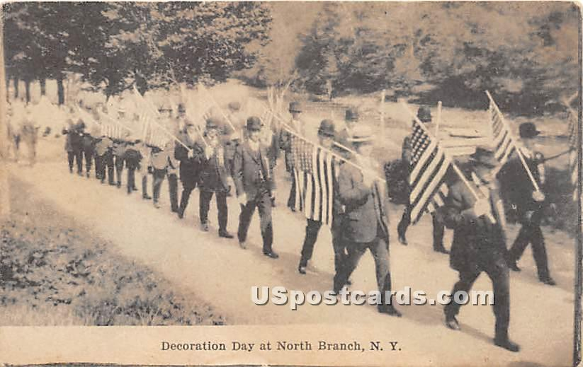 Decoration Day - North Branch, New York NY Postcard