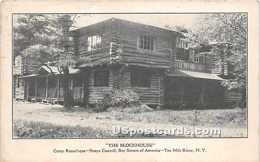 The Blockhouse - Narrowsburg, New York NY Postcard