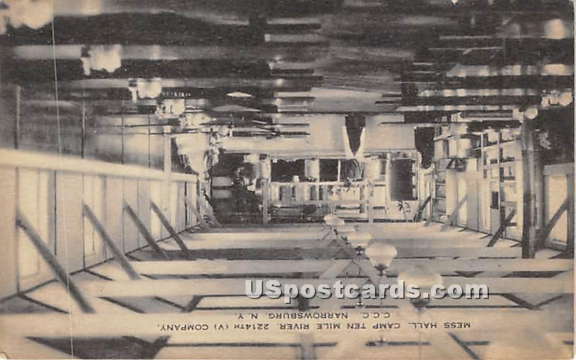 Mess Hall - Narrowsburg, New York NY Postcard