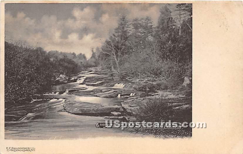 Ten Mile River - Narrowsburg, New York NY Postcard