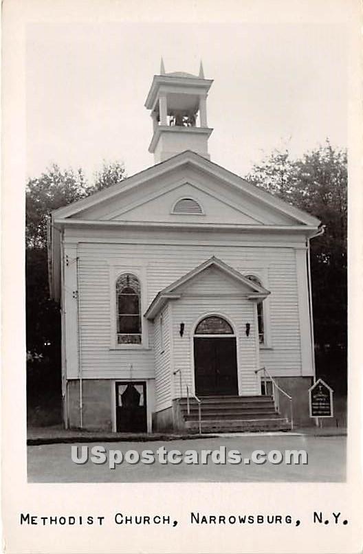 Methodist Church - Narrowsburg, New York NY Postcard