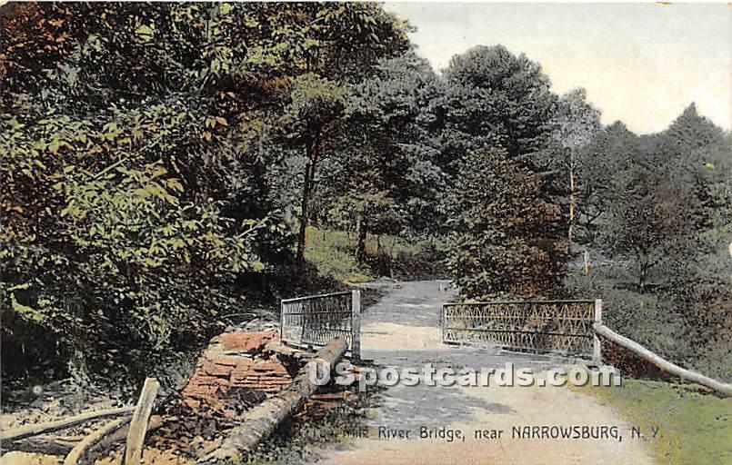River Bridge - Narrowsburg, New York NY Postcard