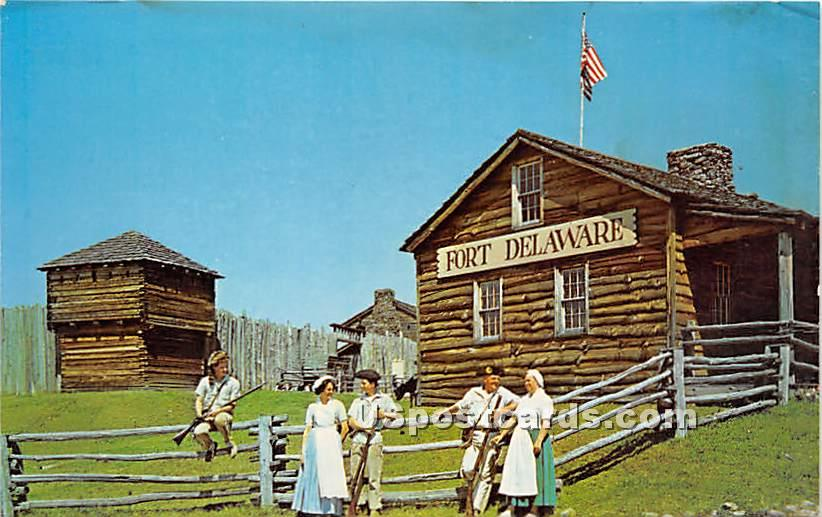 Fort Delaware Museum of the Delaware Valley - Narrowsburg, New York NY Postcard