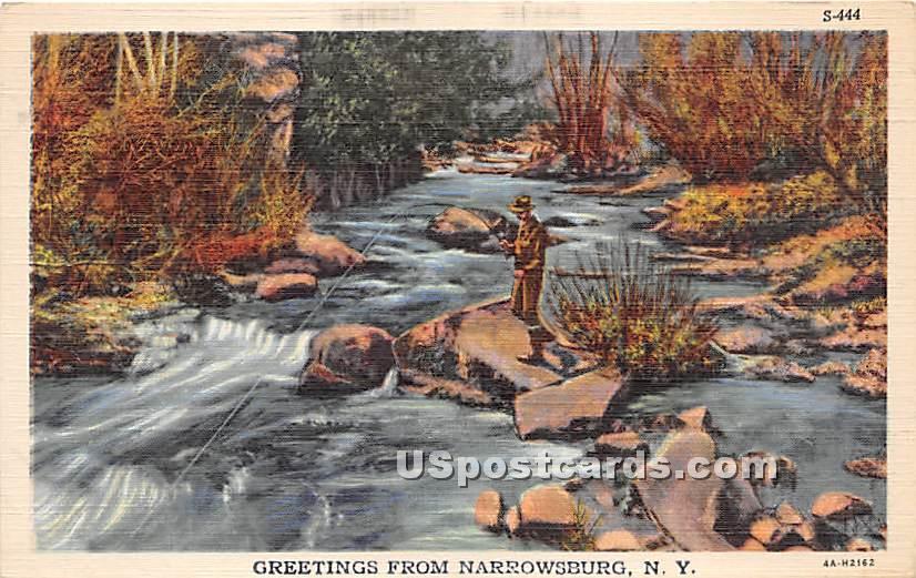 Greetings from - Narrowsburg, New York NY Postcard
