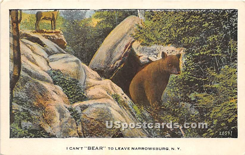 I Can't Bear to Leave - Narrowsburg, New York NY Postcard