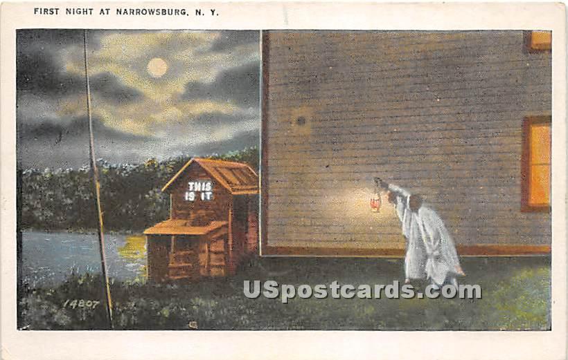 First Night - Narrowsburg, New York NY Postcard