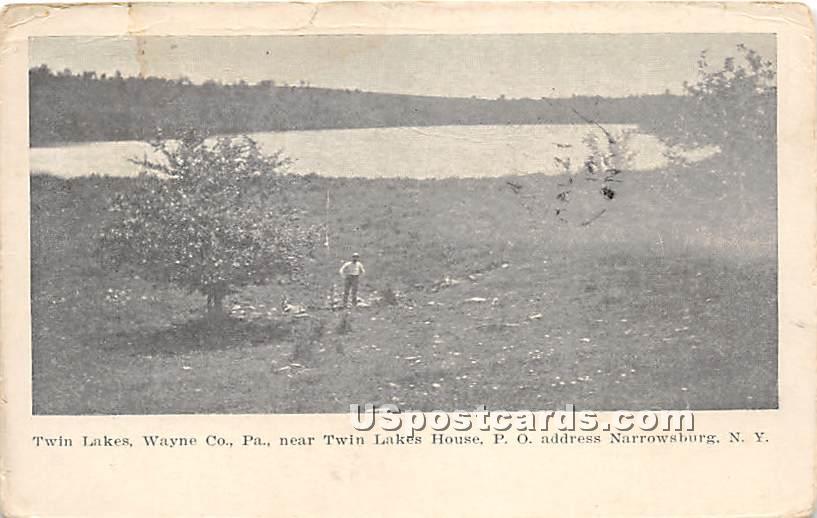 Twin Lakes - Narrowsburg, New York NY Postcard