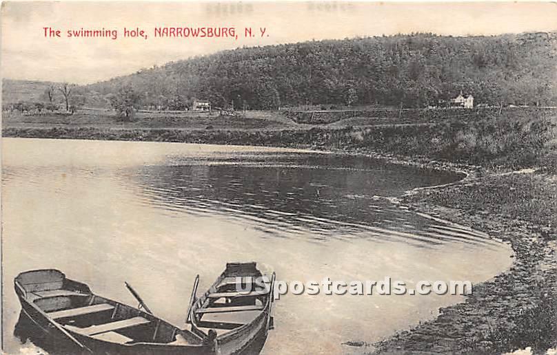 The Swimming Hole - Narrowsburg, New York NY Postcard