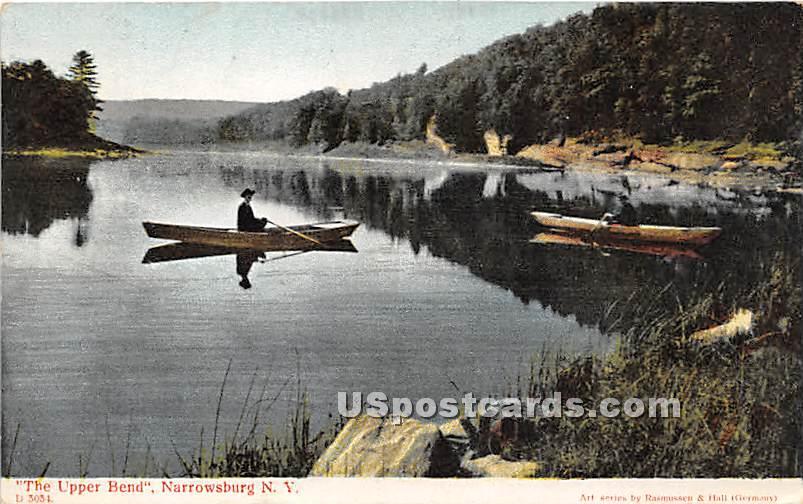 The Upper Bend - Narrowsburg, New York NY Postcard