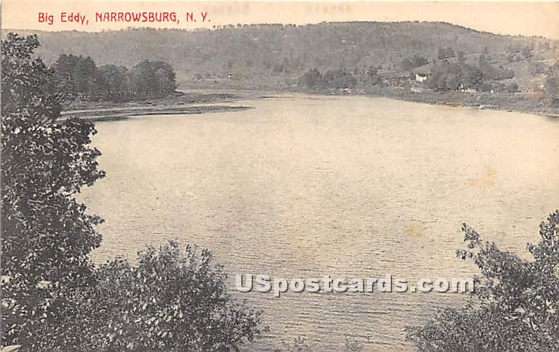 Big Eddy - Narrowsburg, New York NY Postcard