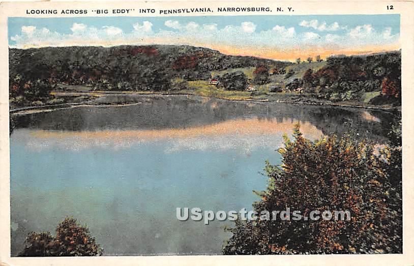 Looking Across Big Eddy - Narrowsburg, New York NY Postcard