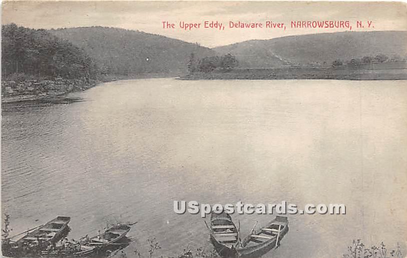 Upper Eddy - Narrowsburg, New York NY Postcard