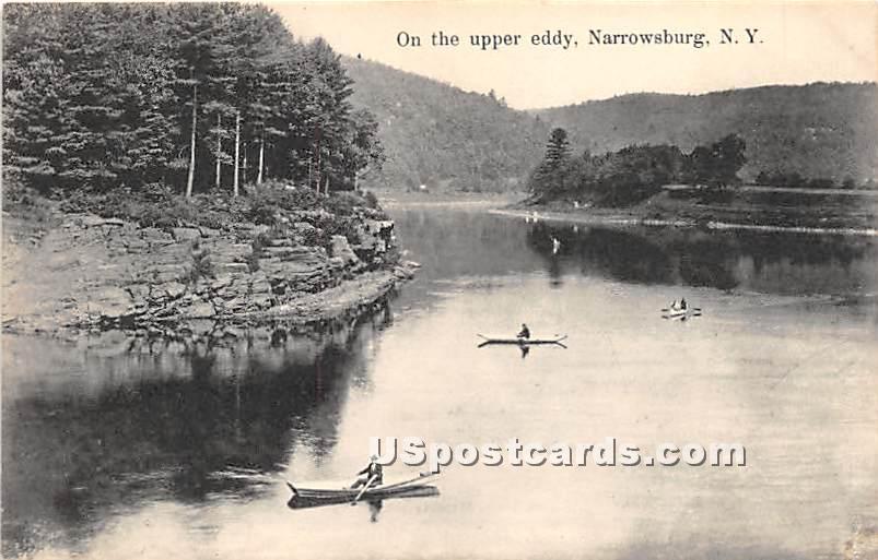 On the Upper Eddy - Narrowsburg, New York NY Postcard