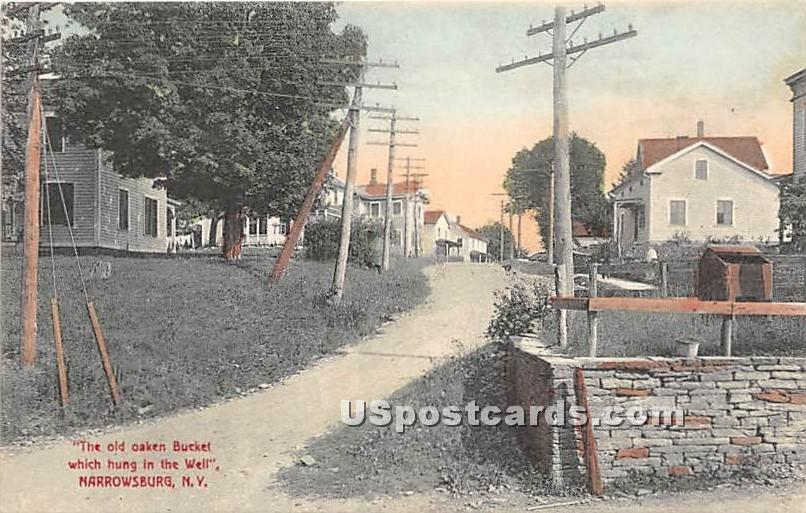 Old Oaken Bucket which hung in the Well - Narrowsburg, New York NY Postcard