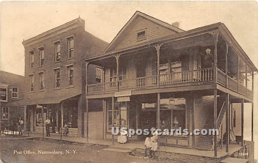 Post Office - Narrowsburg, New York NY Postcard