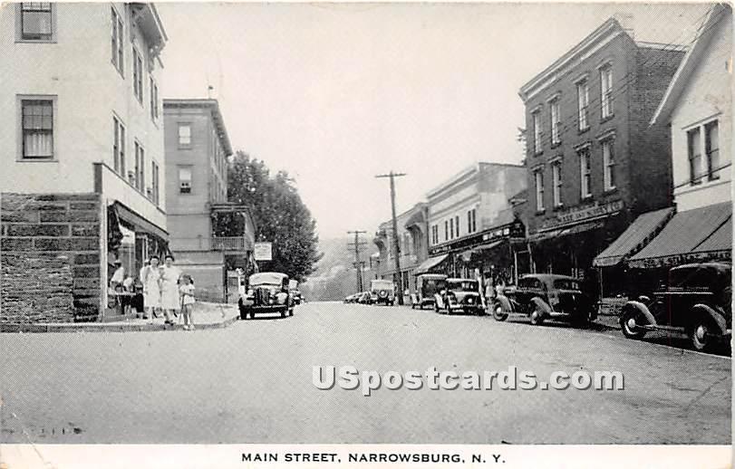 Main Street - Narrowsburg, New York NY Postcard