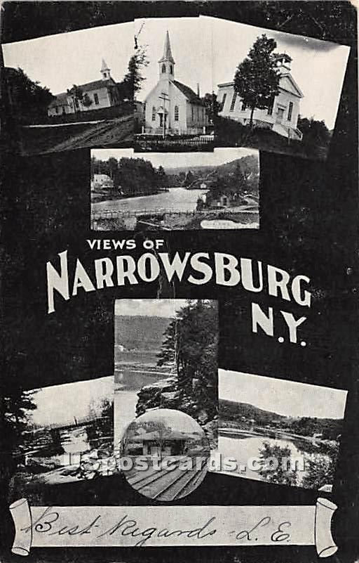 Views of - Narrowsburg, New York NY Postcard