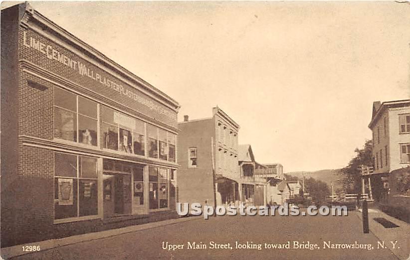 Upper Main Street - Narrowsburg, New York NY Postcard