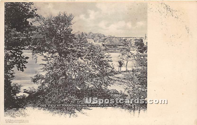 Bridge View - Narrowsburg, New York NY Postcard