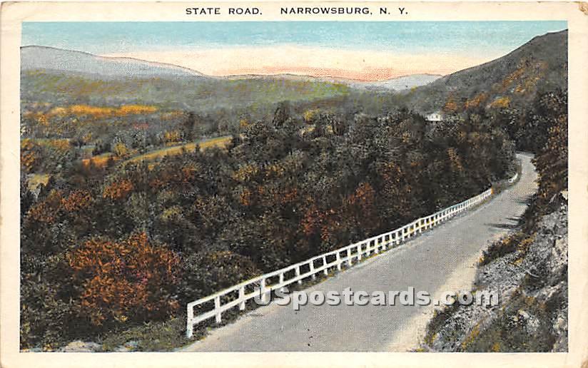 State Road - Narrowsburg, New York NY Postcard