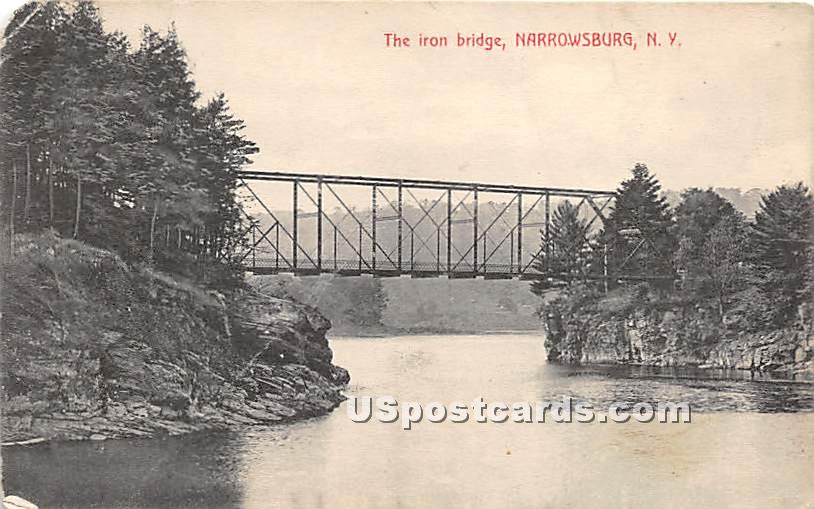 The Iron Bridge - Narrowsburg, New York NY Postcard