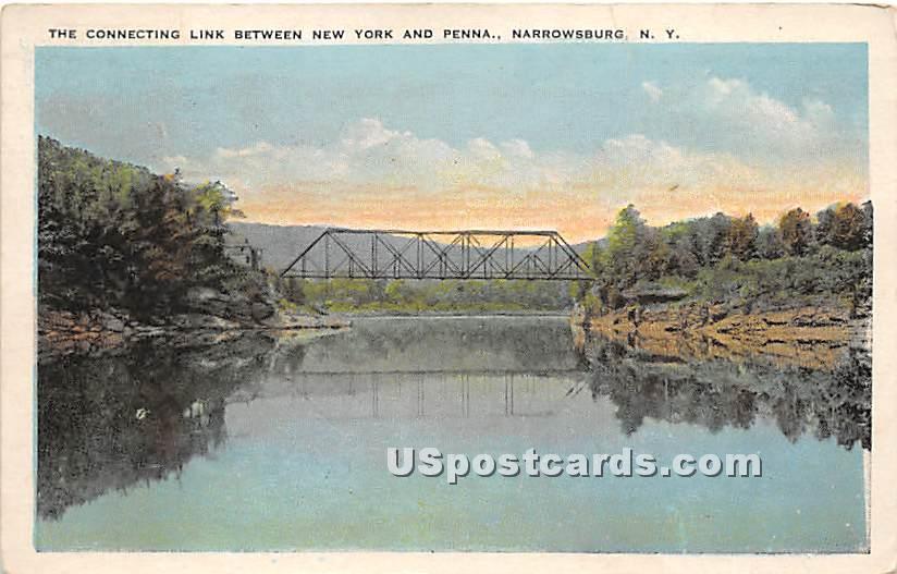 Connecting Link Between New York and Pennsylvania - Narrowsburg Postcard
