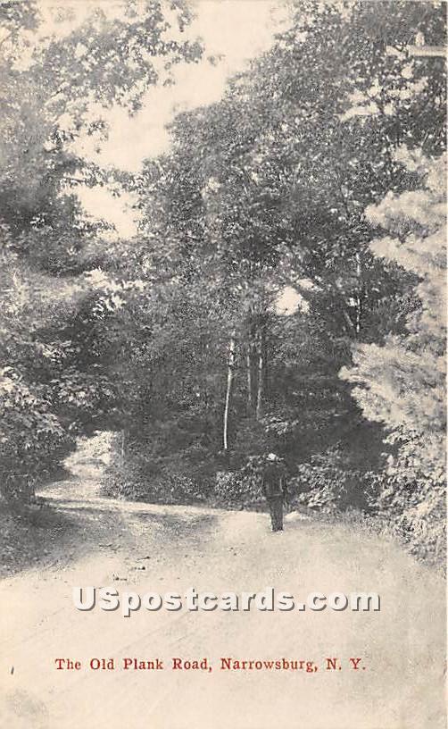 The Old Plank Road - Narrowsburg, New York NY Postcard