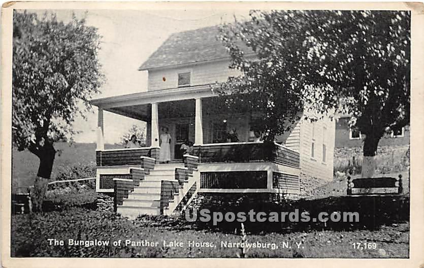 Bungalow of Panther Lake House - Narrowsburg, New York NY Postcard