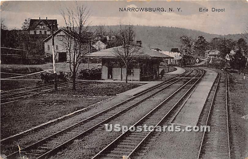 Erie Depot - Narrowsburg, New York NY Postcard