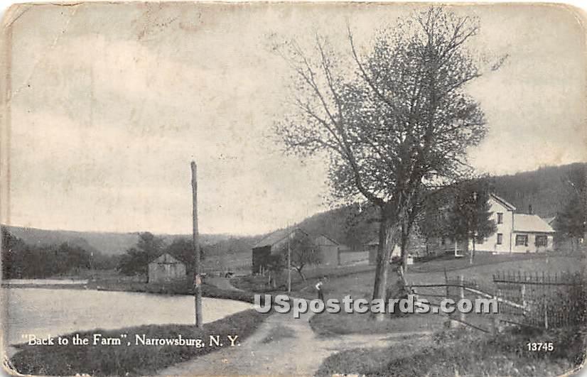 Back to the Farm - Narrowsburg, New York NY Postcard
