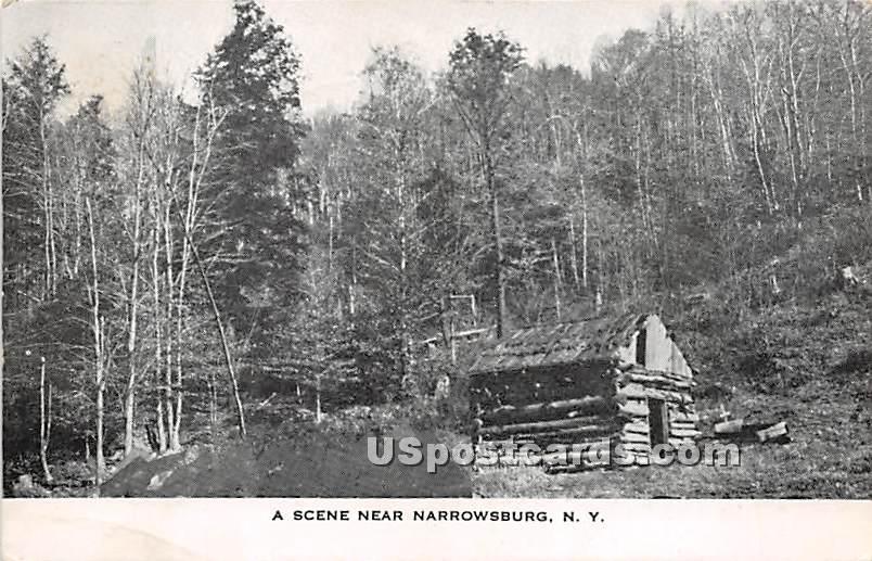 Log Cabin - Narrowsburg, New York NY Postcard