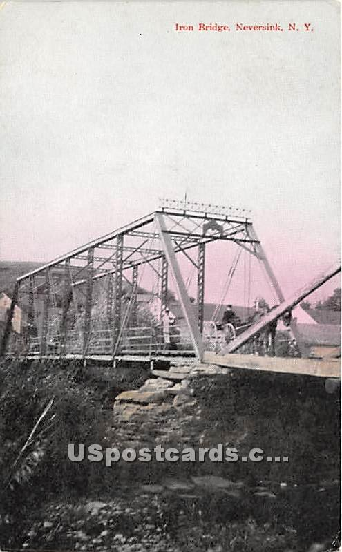 Iron Bridge - Neversink, New York NY Postcard