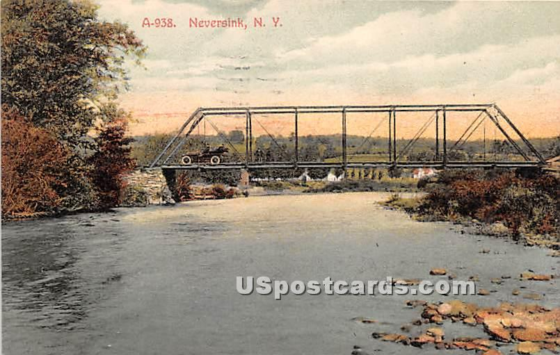 Bridge - Neversink, New York NY Postcard