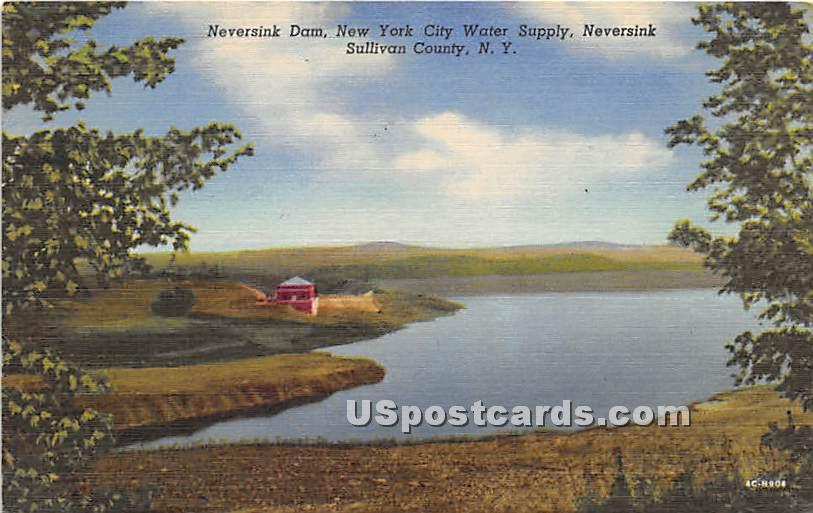 Neversink Dam - New York NY Postcard