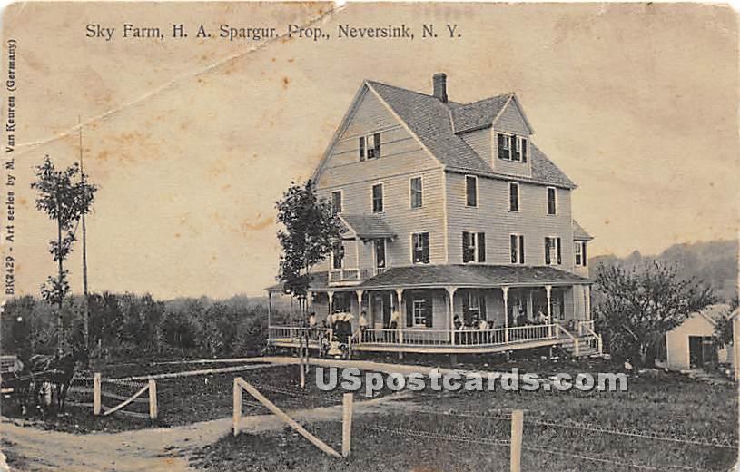Sky Farm H A Spargur, Prop - Neversink, New York NY Postcard