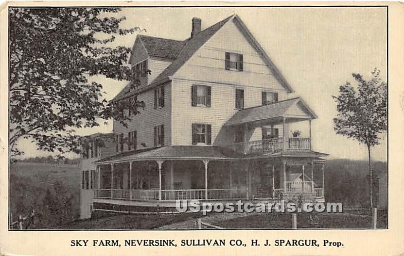 Sky Farm H J Spargur, Prip - Neversink, New York NY Postcard