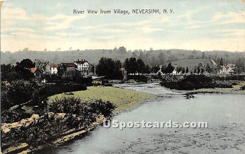 River View from Village - Neversink, New York NY Postcard