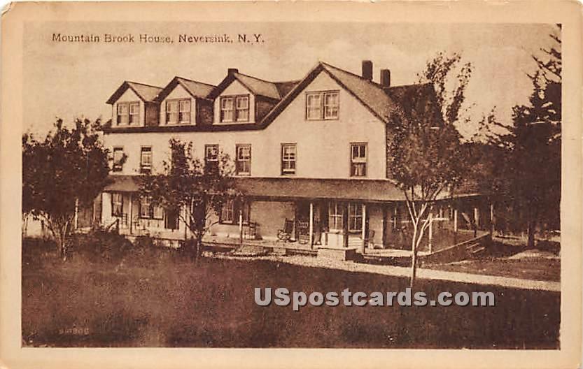Mountain Brook House - Neversink, New York NY Postcard