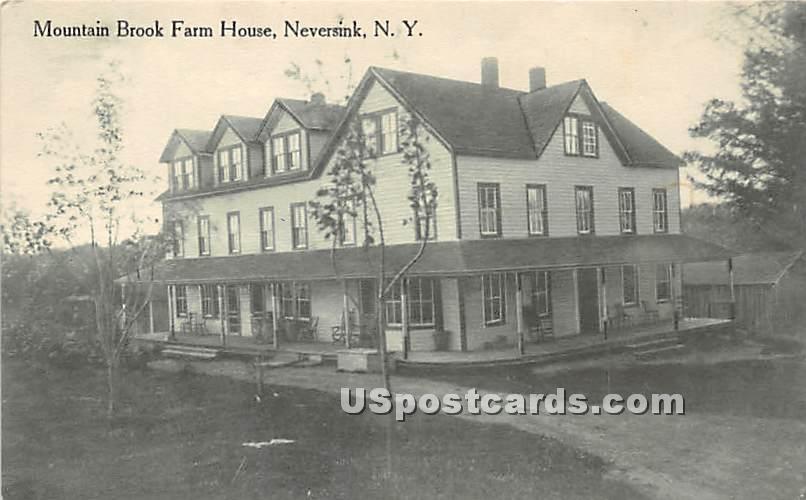 Mountain Brook Farm House - Neversink, New York NY Postcard