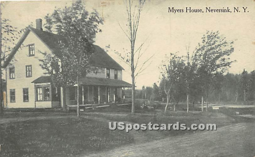 Myers House - Neversink, New York NY Postcard