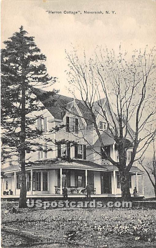 Herron Cottage - Neversink, New York NY Postcard