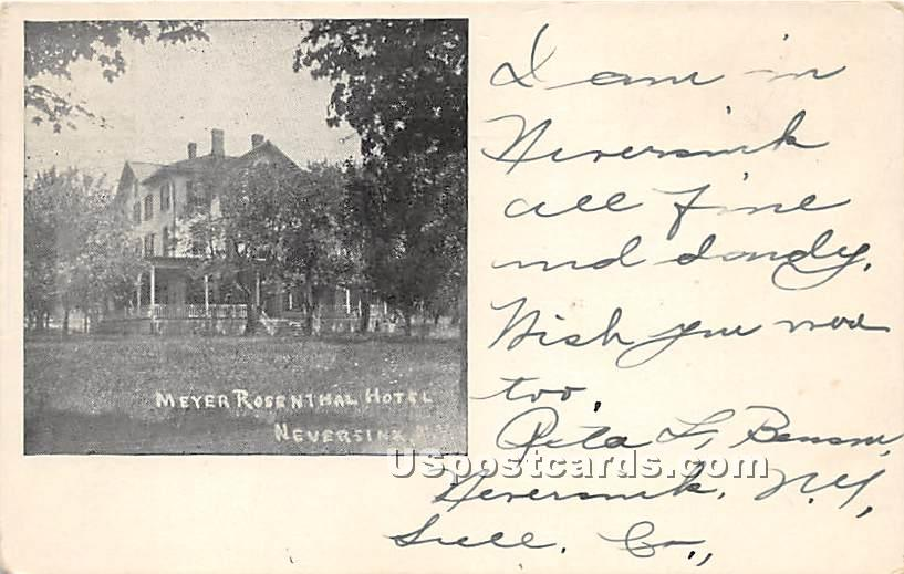 Meyer Rosenthal Hotel - Neversink, New York NY Postcard