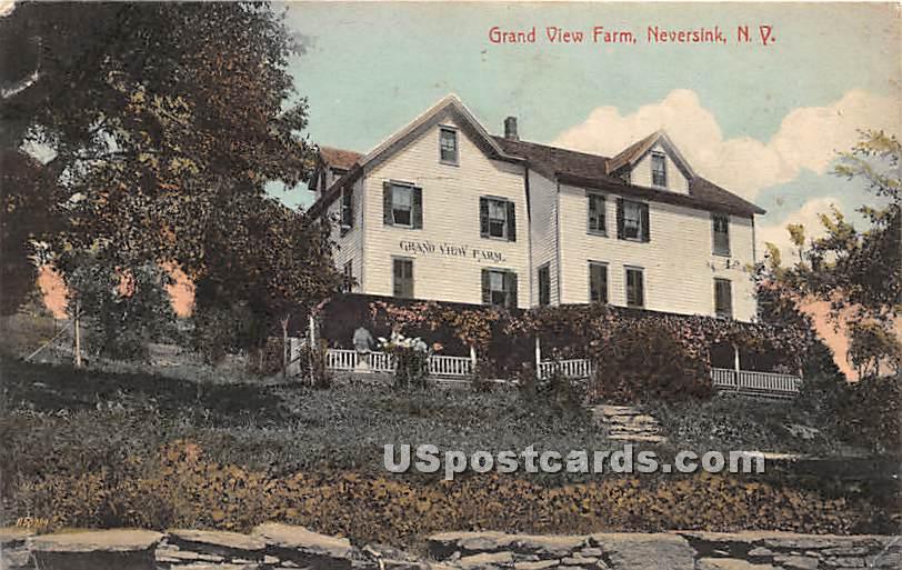 Grand View Farm - Neversink, New York NY Postcard