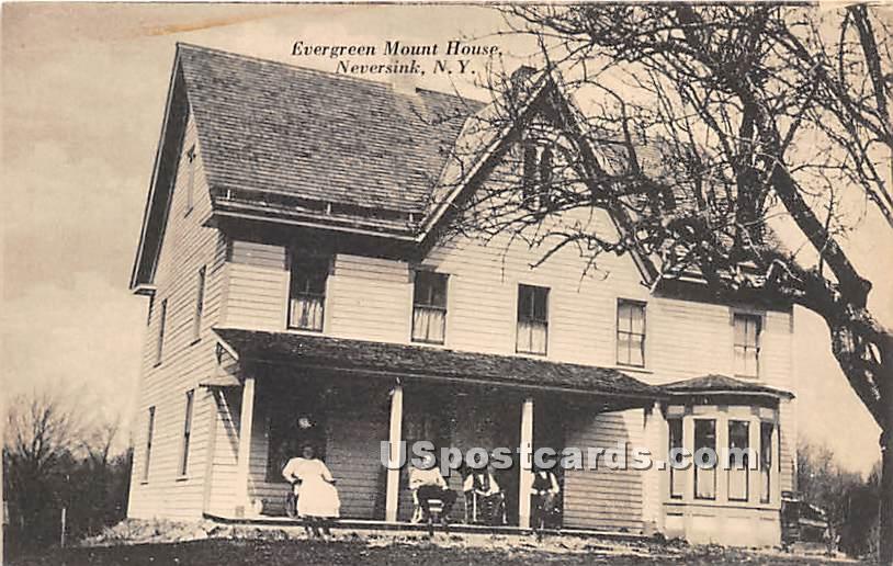 Evergreen Mount House - Neversink, New York NY Postcard