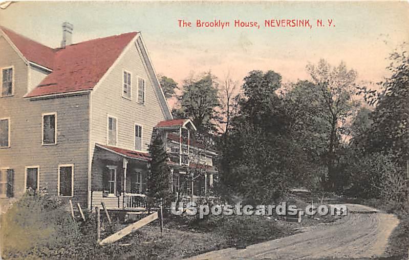 The Brooklyn House - Neversink, New York NY Postcard