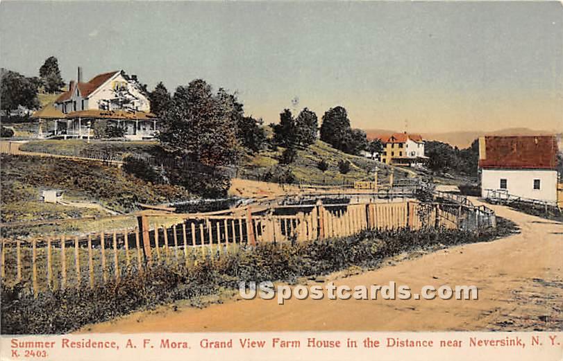 Summer Residence A F Mora - Neversink, New York NY Postcard
