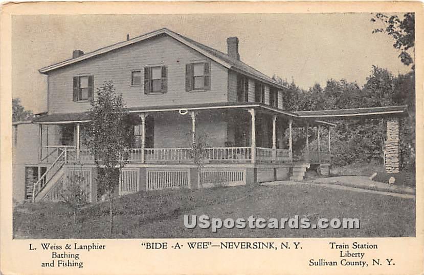 Bide A Wee - Neversink, New York NY Postcard