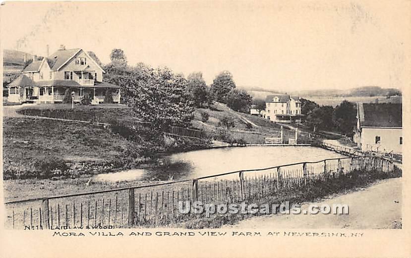 Mora Villa and Grand View Farm - Neversink, New York NY Postcard